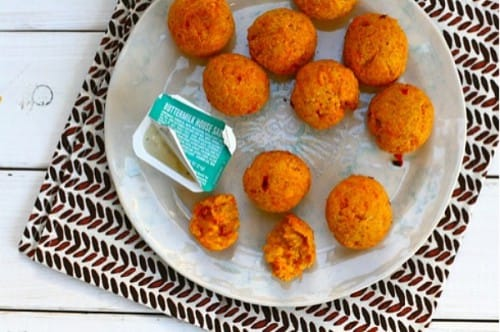 cheddar carrot bites