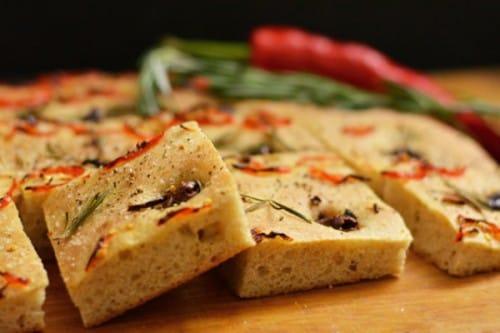 chili, olive, rosemary focaccia