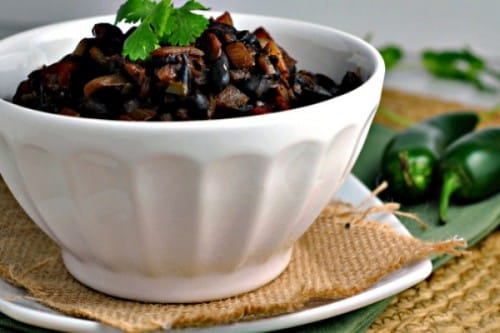 vegan and gluten free black bean chilli