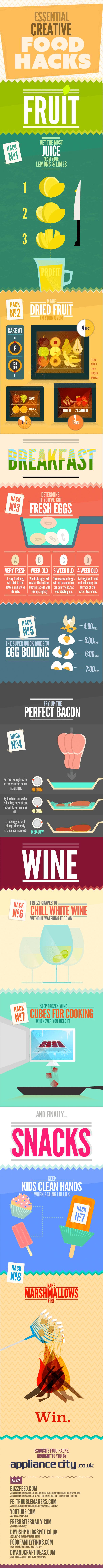 food hacks infographic