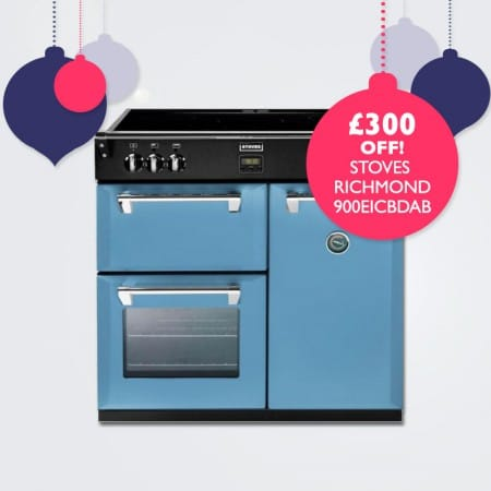 £300 OFF Stoves Richmond 900EICBDAB Induction Range Cooker | Appliance City