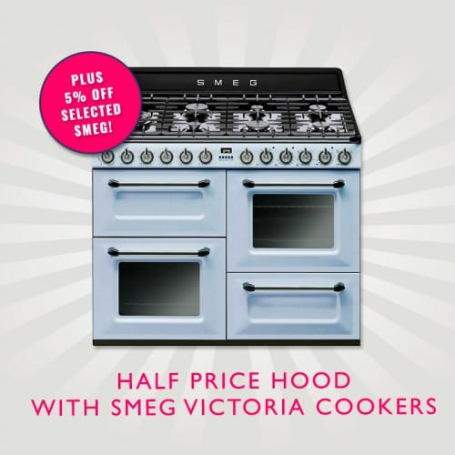Half Price Victoria Hood Plus 5% Off selected range cookers | Appliance City