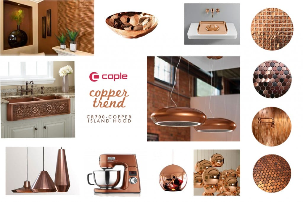 The Copper Trend with Caple - CR700 Copper Island Hood   Appliance City