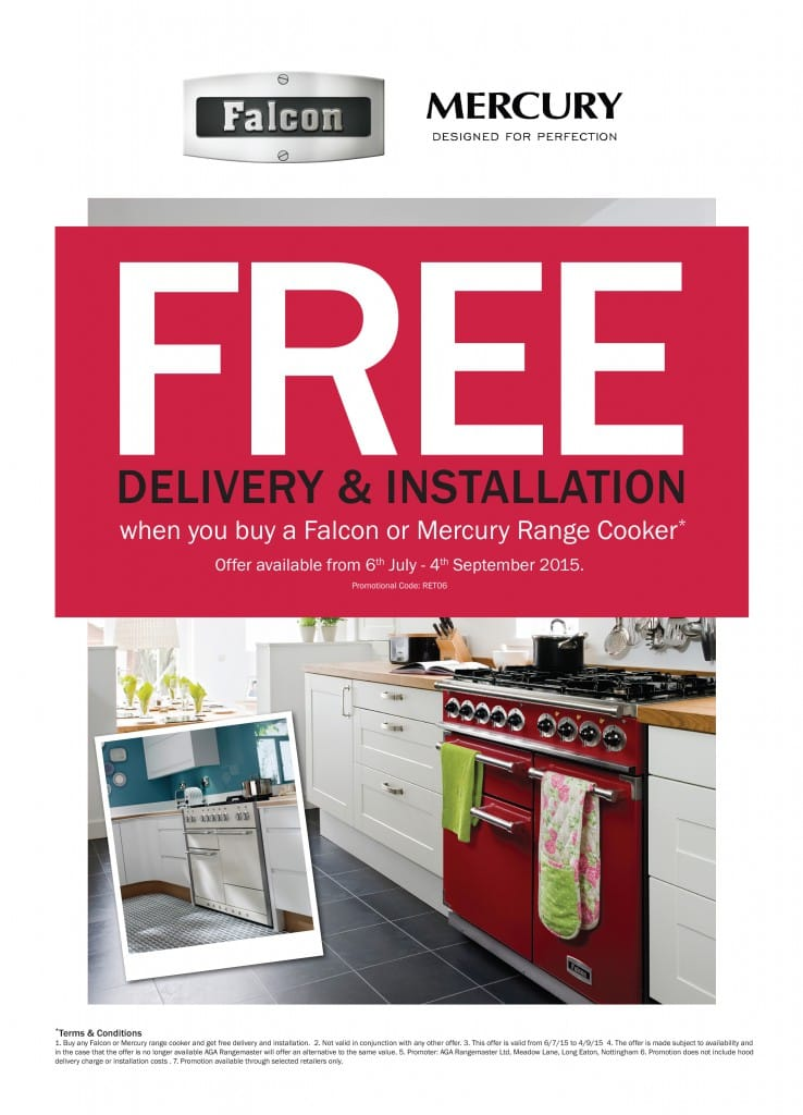 Free Installation & Delivery with Falcon & Mercury   Appliance City