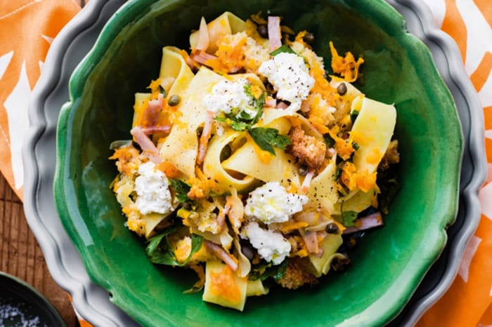 Appliance City - Recipes - Pappardelle with pumpkin and bacon
