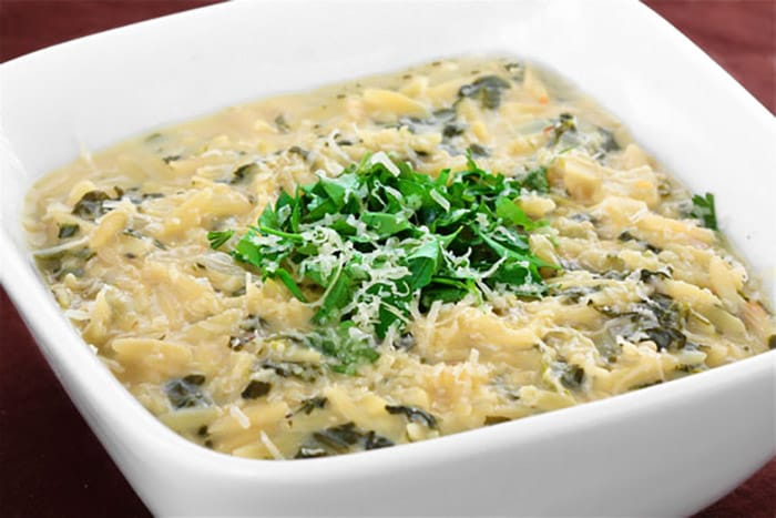 Appliance City - Recipes - Lemon and Spinach Orzo Soup