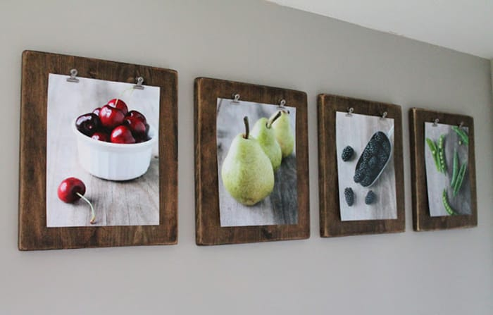DIY Gifts - Photo Clip Boards - Appliance City