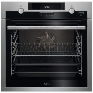 AEG BCS551220M Built In SteamBake Single Multifunction Oven – STAINLESS STEEL