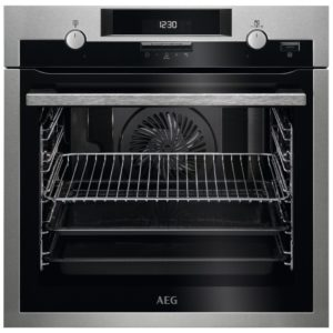 AEG BPS551220M Built In Pyrolytic SteamBake Multifunction Single Oven – STAINLESS STEEL