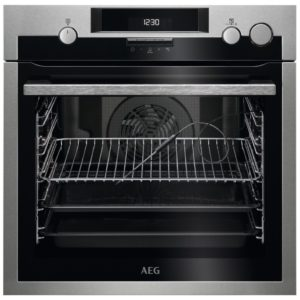 AEG BSE574221M Built In Pyrolytic SteamCrisp Multifunction Single Oven – STAINLESS STEEL