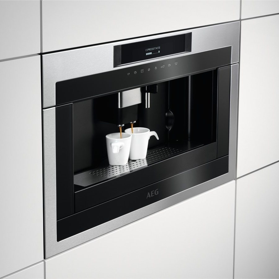Aeg Kke884500m 45cm Fully Automatic Built In Coffee Machine Stainless Steel