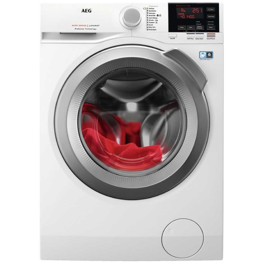 AEG L6FBG842R 8kg Washing Machine 1400rpm 6000 Series - WHITE
