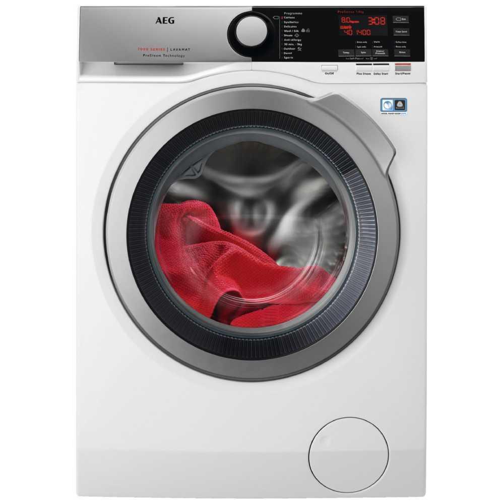 AEG L7FEE865R 8kg ProSteam Washing Machine 1600rpm 7000 Series - WHITE