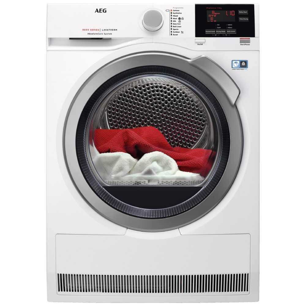 AEG T8DBG842R 8kg Heat Pump Condenser Tumble Dryer 8000 Series - WHITE