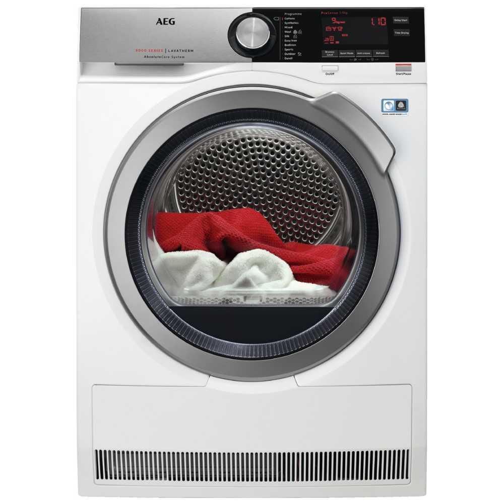 AEG T8DEC946R 9kg Heat Pump Condenser Tumble Dryer 8000 Series - WHITE