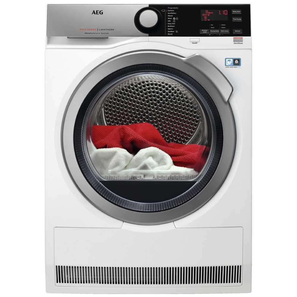 AEG T8DEE845R 8kg Heat Pump Condenser Tumble Dryer 8000 Series - WHITE