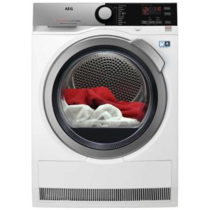 AEG T8DEE945R 9kg Heat Pump Condenser Tumble Dryer 8000 Series – WHITE