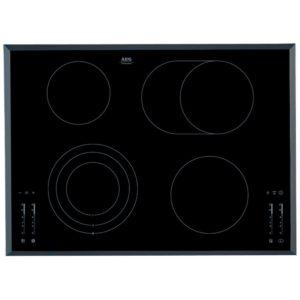 AEG HK764070FB 71cm 4 Zone Bevelled Edge Ceramic Hob – BLACK
