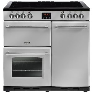 Rangemaster KCH90ECBL/C Kitchener 90cm Ceramic Range Cooker 79270 – BLACK