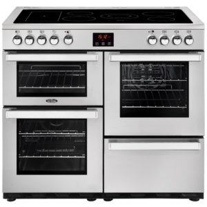 Belling COOKCENTRE 100EPROFSTA 4084 100cm Ceramic Range Cooker – STAINLESS STEEL