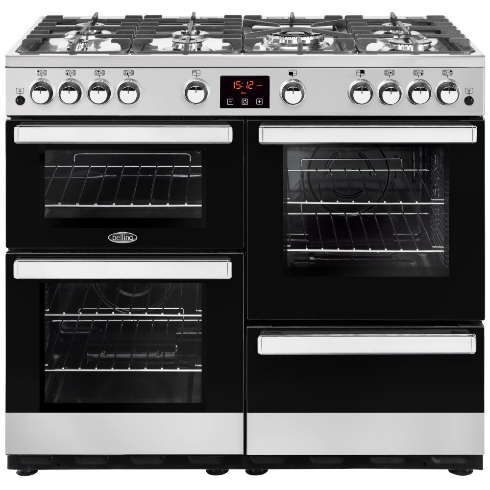 Belling COOKCENTRE 100GSTA 4088 100cm Gas Range Cooker - STAINLESS STEEL