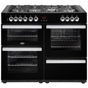 Belling COOKCENTRE 110DFTBLK 4095 110cm Dual Fuel Range Cooker – BLACK