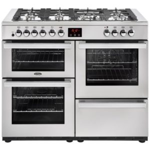 Belling COOKCENTRE 110DFTPROFSTA 4093 110cm Dual Fuel Range Cooker – STAINLESS STEEL