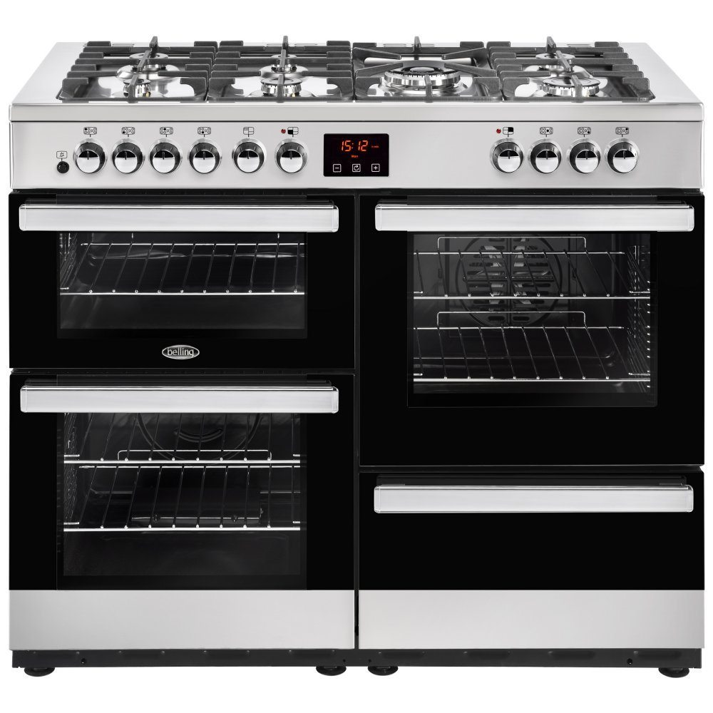 Belling COOKCENTRE 110DFTSTA 4094 110cm Dual Fuel Range Cooker - STAINLESS STEEL