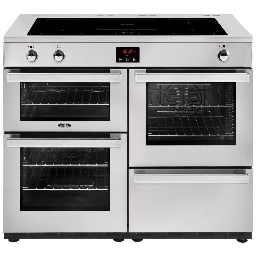 Belling COOKCENTRE 110EIPROFSTA 4102 110cm Induction Range Cooker - STAINLESS STEEL