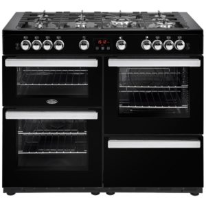 Belling COOKCENTRE 110GBLK 4101 110cm Gas Range Cooker – BLACK