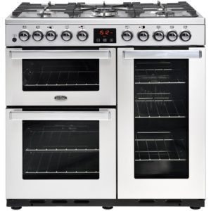 Belling COOKCENTRE DX 90DFTPROFSTA 4107 90cm Dual Fuel Range Cooker – STAINLESS STEEL