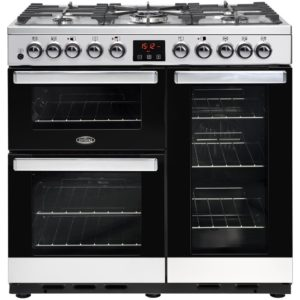 Belling COOKCENTRE DX 90DFTSTA 4106 90cm Dual Fuel Range Cooker – STAINLESS STEEL