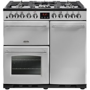 Belling FARMHOUSE DX 90DFTSIL 4158 90cm Dual Fuel Range Cooker – SILVER