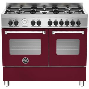 Bertazzoni MAS100-6-MFE-D-VIE 100cm Master Dual Fuel Range Cooker – BURGUNDY