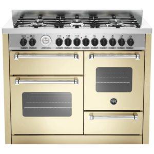 Bertazzoni MAS110-6-MFE-T-CRE 110cm Master Series XG Dual Fuel Range Cooker – CREAM
