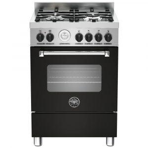Bertazzoni MAS60-4-MFE-S-NEE 60cm Master Freestanding Dual Fuel Cooker – BLACK
