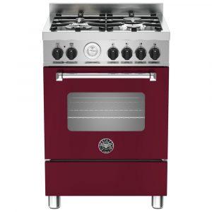 Bertazzoni MAS60-4-MFE-S-VIE 60cm Master Freestanding Dual Fuel Cooker – BURGUNDY