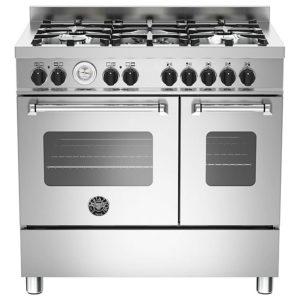 Bertazzoni MAS90-5-MFE-D-XE 90cm Master Dual Fuel Twin Range Cooker – STAINLESS STEEL