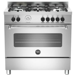 Bertazzoni MAS90-5-MFE-S-XE 90cm Master Dual Fuel Single Range Cooker – STAINLESS STEEL