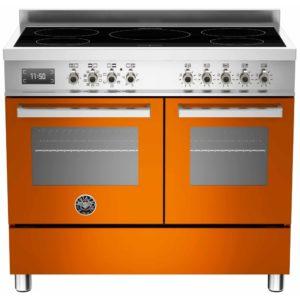 Bertazzoni PRO100-5I-MFE-D-ART 100cm Professional Induction Range Cooker – ORANGE