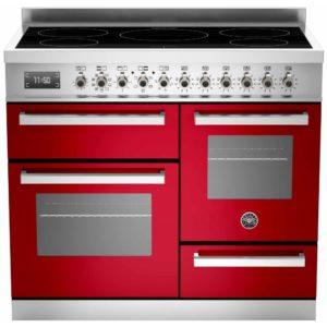 Bertazzoni PRO100-5I-MFE-T-ROT 100cm Professional XG Induction Range Cooker – RED