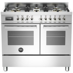 Bertazzoni PRO100-6-MFE-D-XT 100cm Professional Dual Fuel Range Cooker – STAINLESS STEEL
