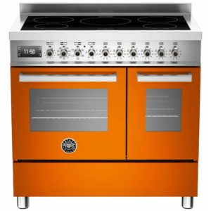 Bertazzoni PRO90-5I-MFE-D-ART 90cm Professional Induction Twin Range Cooker – ORANGE