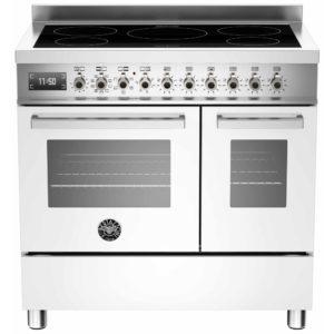 Bertazzoni PRO90-5I-MFE-D-BIT 90cm Professional Induction Twin Range Cooker – WHITE