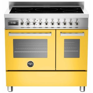 Bertazzoni PRO90-5I-MFE-D-GIT 90cm Professional Induction Twin Range Cooker – YELLOW