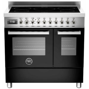 Bertazzoni PRO90-5I-MFE-D-NET 90cm Professional Induction Twin Range Cooker – BLACK