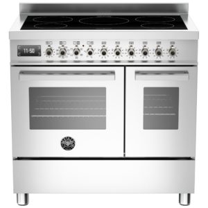 Bertazzoni PRO90-5I-MFE-D-XT 90cm Professional Induction Twin Range Cooker – STAINLESS STEEL