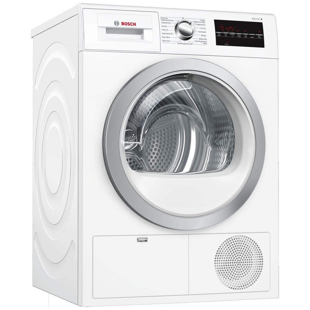 Bosch WTG86402GB 8kg Serie 6 Condenser Tumble Dryer - WHITE