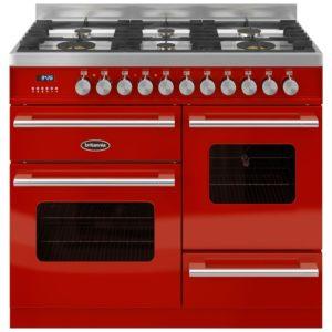 Britannia RC-10XGG-DE-RED 100cm Delphi XG Dual Fuel Range Cooker – RED