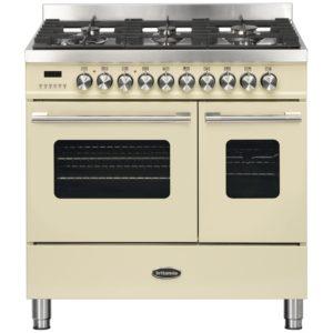 Britannia RC-9TG-DE-CR 90cm Delphi Dual Fuel Twin Oven Range Cooker – CREAM